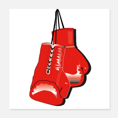 Boxing Training boxing gloves - Poster