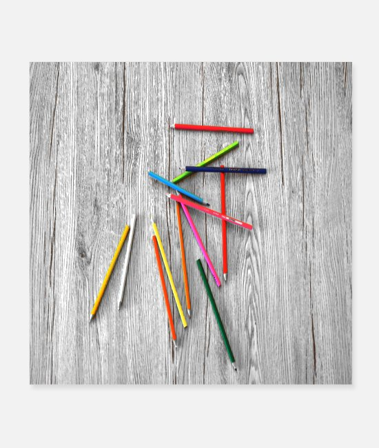 Fairy Tale Figure Posters - Colored pencils - Posters white