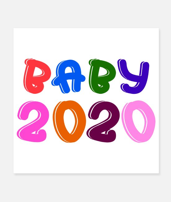 Christmas Posters - Baby 2020 Neuborn Babyshower gift idea - Posters white