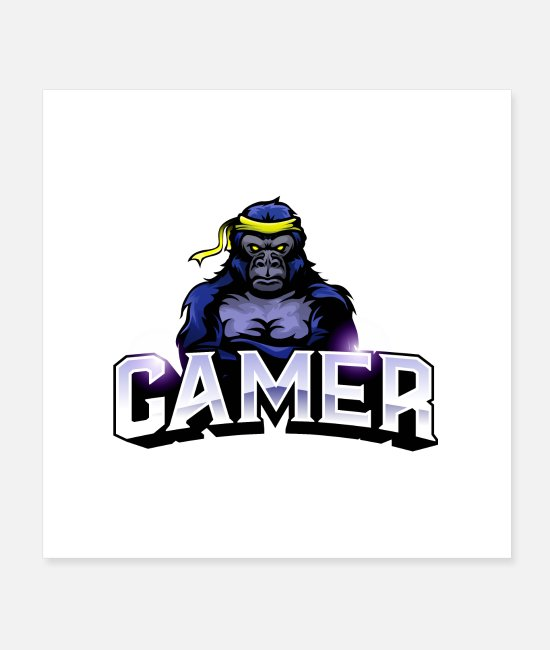 Silver Back Posters - GAMER MERCH - Posters white