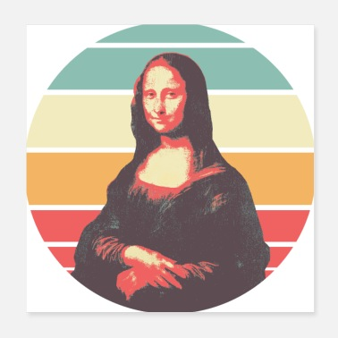 Mona Lisa Retro Mona Lisa - Poster