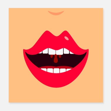 Lachender Mund / laugh lips mouth (DDP) - Poster