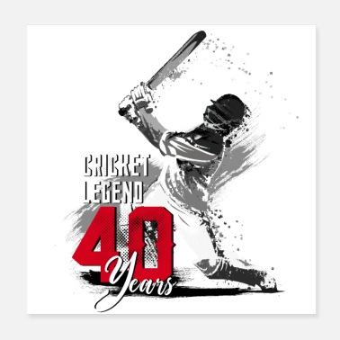 Scorer Cricket player, 40th birthday, the legend - Poster