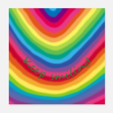 Keeper Regenbogen Keep smiling - Poster