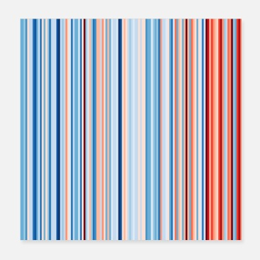 Minnesota Global Warming Stripes Climate Strike - Poster