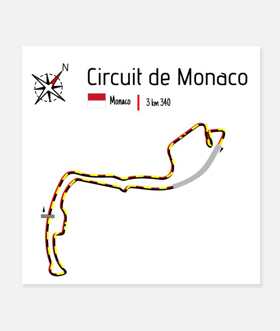 Formula Posters - Monaco circuit - Posters white