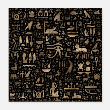 Ancient Ancient Egyptian hieroglyphs - Poster