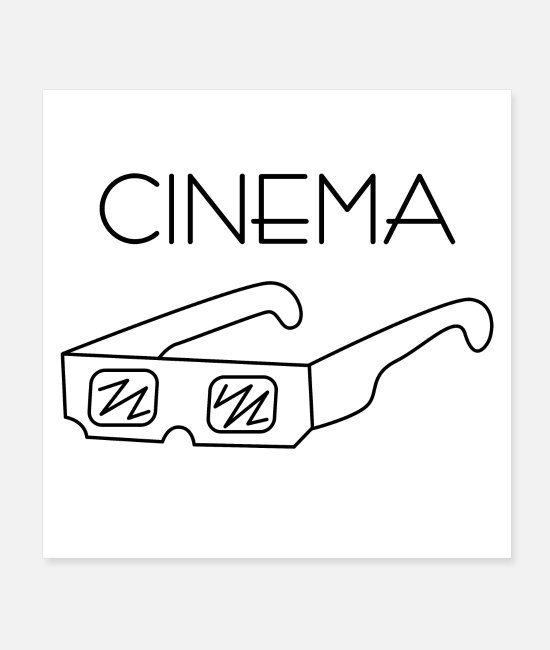 Series Posters - Cinema glasses - Posters white