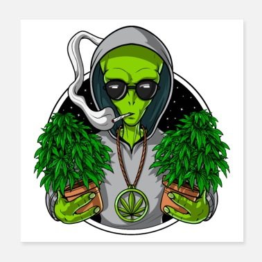 Cannabis Alien Weed Grower - Poster