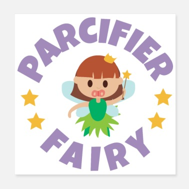 Brother Of Birthday Boy Fairy tale pacifier fairies baby Funny gift idea - Poster