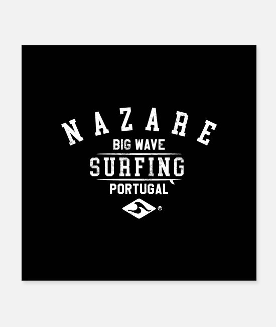Design Posters - NAZARE BIG WAVE SURFING PORTUGAL - Posters white
