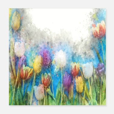 Flower Poster WATERCOLOR FLOWERS POSTER - Poster
