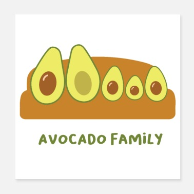 Advocate The family Avocado gift idea three children - Poster