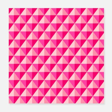 Shade Shades Of Pink 3D Geometric Diamonds - Poster