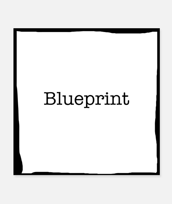 Trial Posters - Blueprint Black - Posters white