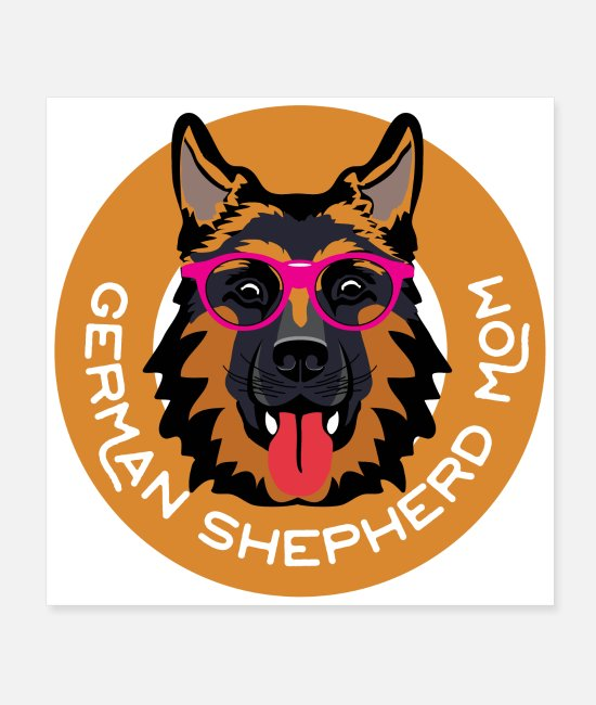 Sweet Dog Posters - German Shepherd Mom dog lover gift idea - Posters white