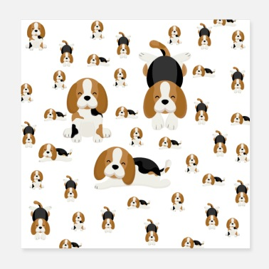 Rescue Dog Beagle, dogs - Poster