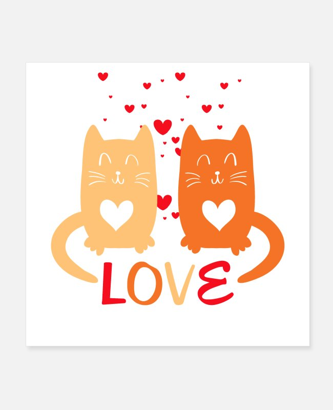Lovestruck Posters - Cats in Love - Posters wit