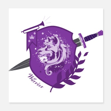 Sword DogWarrior - Warrior - purple - Poster