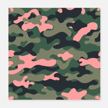 Raider Girly green pink camo - Poster