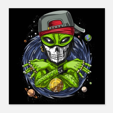Alien Gangsta Alien Rapper - Poster