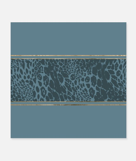 Trendy Posters - Blueprint and Animal texture - Posters white