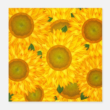 Big Sunflowers - Poster