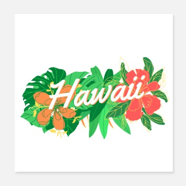 Hawaii Tropisk Hawaii - Poster