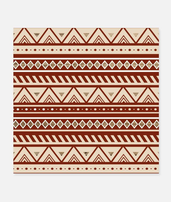 Kilim Posters - Native American Pattern - Posters white
