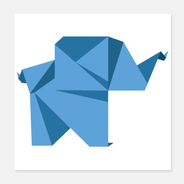 Animal Origami elephant child Funny gift idea - Poster