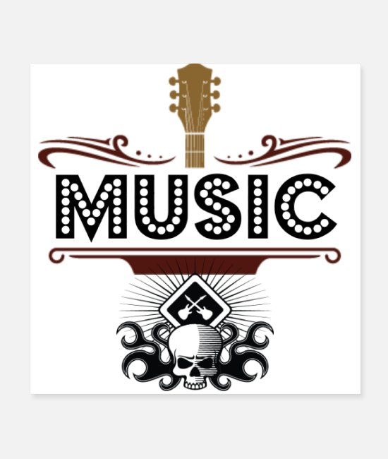 Tri Blend Posters - MUSIC - Posters white