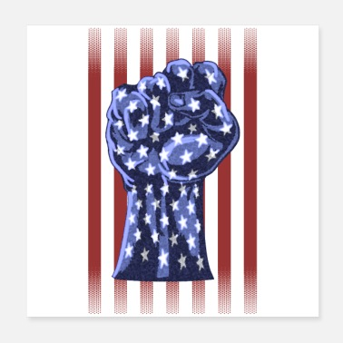 Republicans American Right Raised Fist Flag - Poster