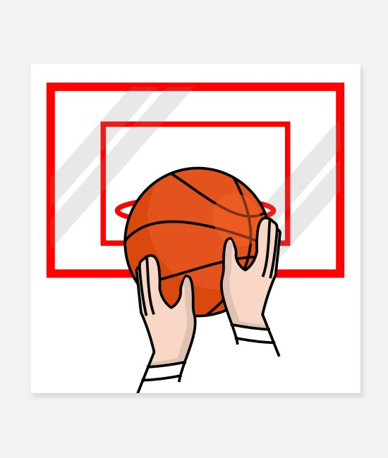 Training Posters - Ball - basketball throw - Posters white