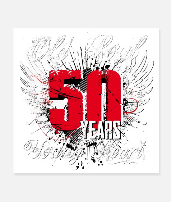 Festival Posters - For a 50th birthday for a young heart - Posters white