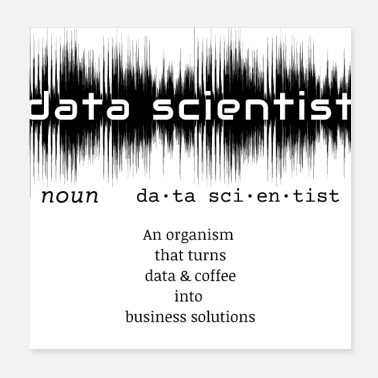 Data Data Scientist Dictionary Definition | Data Waves - Poster