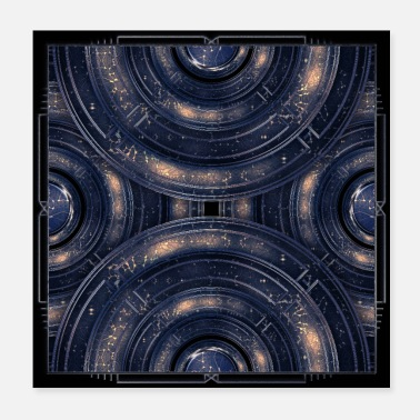 Kosmos Cosmos universe abstract art in blue outer space - Poster