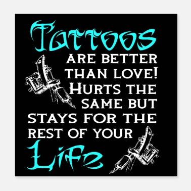 Tattoo Tattoo, tattoos, tattoo shop, posters, coasters - Poster