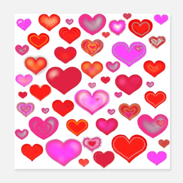 Love Heart Hearts Eclectic Love - Poster