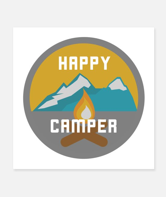 Nature Posters - Happy Camper - design for real campers - Posters white