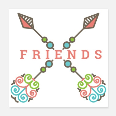 Match Friendship Arrows Friends Matching gift idea - Poster
