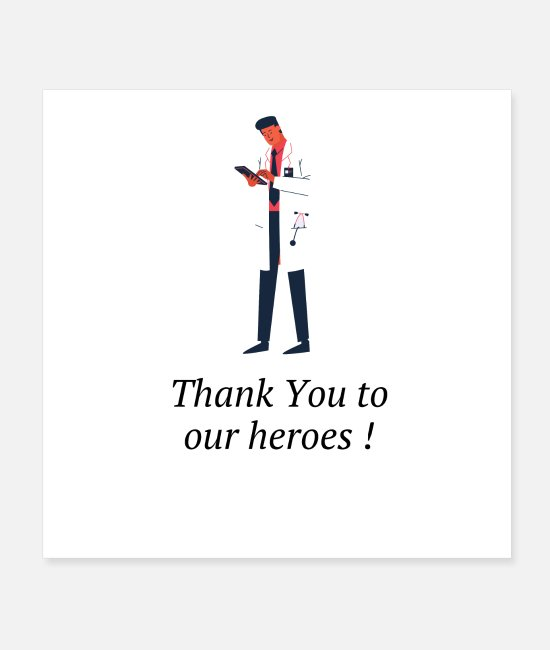 Medicine Posters - Thanks to the caregivers / Thanks to nurses - Posters white