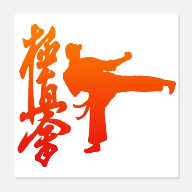 Karate Vechtsport Kyokushin Karate Orange - Poster