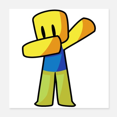 Gaming Roblox Dabbing Dab Hand gezeichnete Gaming Noob - Poster