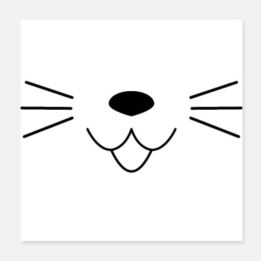 Funny Animals Funny animal mask, cat - Poster