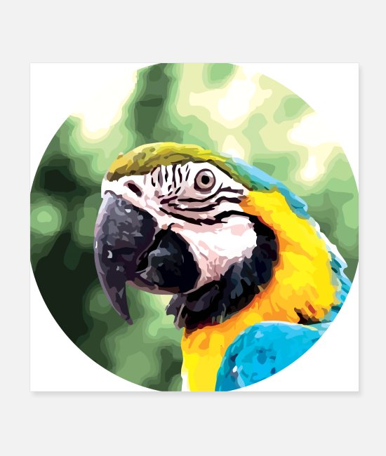Nature Posters - Blue Ara Parrot - Posters white