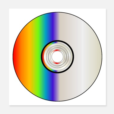 Dvd Blank CD Disc With Rainbow - Poster