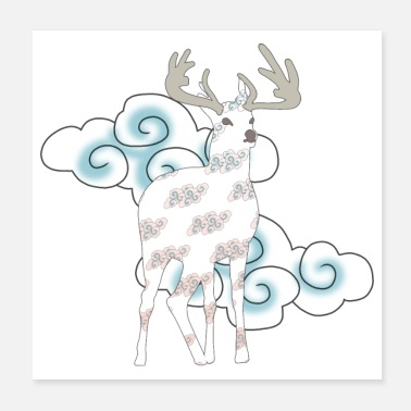 Mythical Mythical deer - Poster