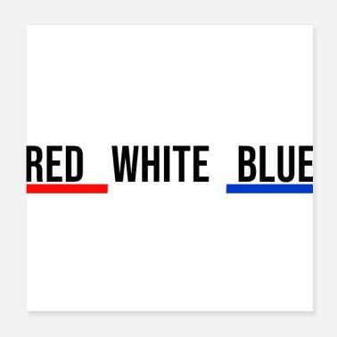French French flag red white blue France - Poster