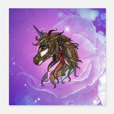 Stylish Wonderful stylish colorful unicorn - Poster
