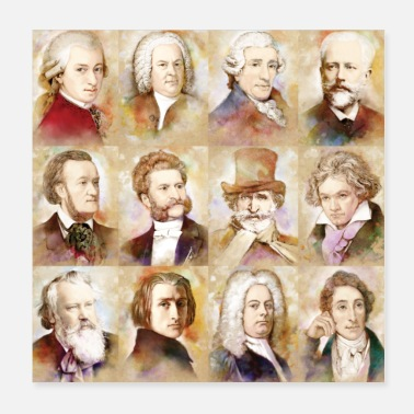 Composer Composers: Mozart, Bach, Beethoven and more - Poster